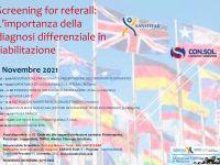 Screening for referall: L'importanza della diagnosi differenziale in riabilitazione - 5 Novembre 2021